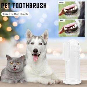 1pcs Pet Finger Toothbrush Super Soft Dog Cat Teeth Care Cleaning Supplies