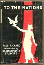 To The Nations by Paul Richard Tagore Intro WWI India Radical Utopia 1917 DJ