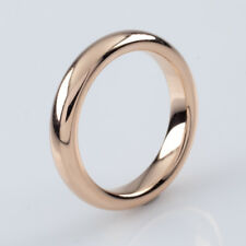 18k Rose Gold Wedding Band by MC Paris Size 6 4 mm