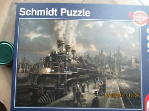 """Schmidt """"Locomotive"""" 1000 piece jigsaw puzzle N0 58206 great used condition"""