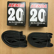 Kenda 2x Schlauch 20 Zoll Fahrrad BMX 20 x 1.75 x 2.125 47/57-406 AV Autoventil