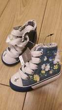 Bnwt Girls NEXT Blue Denim Bee Range Trainers Boots Shoes Lace Up Size 3