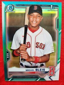 2021 Bowman Chrome Prospects 1ST MIGUEL BLEIS Aqua REFRACTOR /125 Red Sox SSP