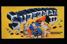 Superman 3  Parker Bros. game 1983 Game may never have been used Based on movie