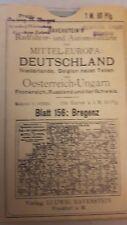 Bregenz Ravenstein Karte ca 1910 Fahrrad Radfahrer Automobil Europa Leinen
