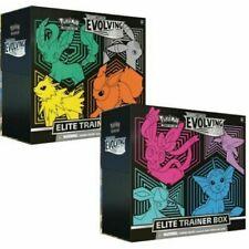 Pokemon Tcg Evolving Skies Elite Trainer Box Conjunto de 2 cajas de barcos 08/27