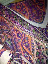Kiara 3/4 Sleeve Nice Sequined Print around the collar. Size M NICE MULTI COLOR