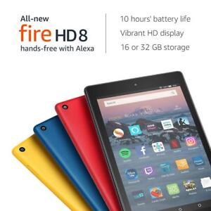 "Kindle Fire HD 8 Tablet with Alexa, 8"", 32GB (2018 model) - U.K. stock !!!"