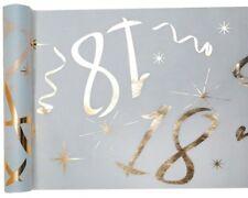 18. Geburtstag Party Tischband gold weiß Tisch Deko passende Servietten im Shop