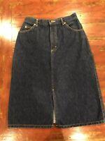 Vintage Lee High-Waisted High-Rise Jean Denim Skirt, Size 2 (vintage Size 11)