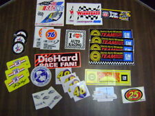 Auto Racing Decals Stickers lot of 28 vintage