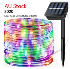 Rope Lights Solar Power LED 10M Multi Colour Waterproof Outdoor Xmas Party