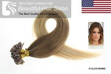 """Best 7A Quality 18"""" 1g 100% Pre Bonded Nail U Tip Human Hair Extensions USA"""