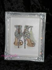 Jimmy Shoe Sparkle Glitter picture, Crystals/ Silver Shabby Chic Framed!