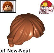 Lego - 1x Minifig Hair Hairstyle Hair Tousled Layered Dark Orange 92746 New