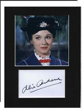 Mary Poppins Julie Andrews signed printed autograph photo print mounted gift
