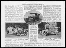 1911 Antique Print -  MOTOR CAR Wolseley Mitchell  Prince Henry Stoewer (150)