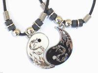 NEW BEST FRIEND Dragon Yin Yang  2 Pendants Necklace Set BFF Friendship Ying