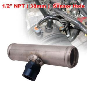"150mm Temperature Inline Temp Sensor Radiator Block 1/2"" NPT Pipe Hose Adapter"
