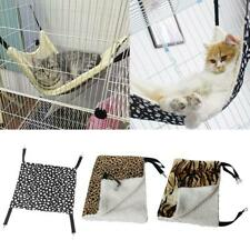 New listing Warm Cat Hammock Fur Bed Hanging Cat Cage Rest House Supplies Pets Soft C9I6