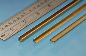 Albion Alloys Brass Channel 1 x 2.5 x 1 mm x 305 mm From Chronos Ref CC2