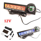 Lcd Digital Clock Compass Car Thermometer Voltmeter Ice Alert Temporary Parking