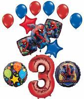 Spider-Man Party Supplies 3rd Birthday Balloon Bouquet Decorations