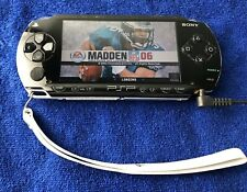 Sony PSP 1000 Black/ Game Installed And 32mb Micro SD With Adapter