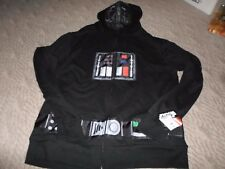 Mens Size 2XL Darth Vader Star Wars Hoodie with Costume Hood BRAND NEW