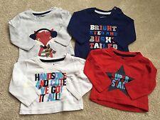 4x Baby Boy Long Sleeve Tops - Age 0-3 Mths