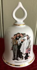Norman Rockwell Barbershop Quartet Ceramic Bell Danbury Mint limited edition