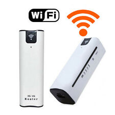 MODEM WIRELESS WIFI ROUTER 3G 4G PORTATILE BATTERIA RICARICABILE SIM POWER BANK