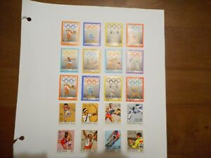 Page of Polish used Olympic  Sports stamps  page 2  20  stamps