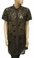 146364 New All Saints Spitalfields Floral Pattern Embellished Buttondown Dress L