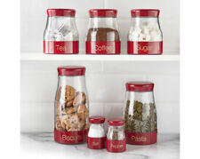 New Sabichi Red 7pc Kitchen Canister Set - 59049707- Bring Style to your Kitchen