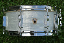 CLEAN! 60's LUDWIG BUDDY RICH SUPER CLASSIC WHITE MARINE PEARL SNARE DRUM! #Z715