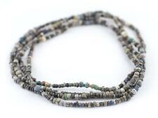 Grey Ancient Djenne Nila Glass Beads 4mm Mali African Seed 24-28 Inch Strand