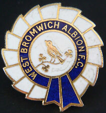 WEST BROMWICH ALBION FC Vintage club crest badge Brooch pin In gilt 29mm x 30mm