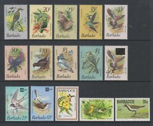 Barbados - Small Collection of 15 Bird stamps - MNH