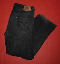 Men's Levi's 36x32 501 XX Original Fit Straight Leg Button Fly Black Wash Jeans