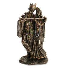 "KRISHNA AND RADHA STATUE 11.5"" Hindu Divine Love HIGH QUALITY Bronze Resin Deity"