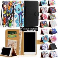 Folio Leather Stand Wallet Cover Case For Various SmartPhones + Strap