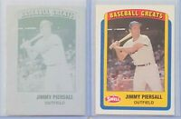 1/1 JIMMY PIERSALL 1990 SWELL BASEBALL GREATS PRINTING PLATE CARD #92 NY METS