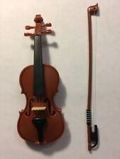 "Miniature Violin (4"") with Bow (5"") Ornament Toy"
