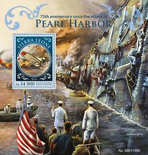 Sierra LEONE 2016 MNH Pearl Harbor ATTACK 75 ° anniv IV S / S SECONDA GUERRA MONDIALE aerei STAMPS