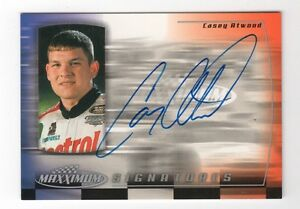 Casey Atwood AUTOGRAPH 2000 Upper Deck NASCAR Cup Series Xfinity RACING AUTO