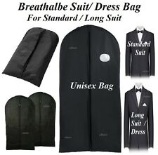 BLACK SUIT BAG COVERS BREATHABLE CLOTHES DRESS SHIRT COVER LONG SUIT TRAVEL BAGS