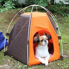 Dog House tent Folding indoor outdoor waterproof Pet Cat Camp Teepee Portable