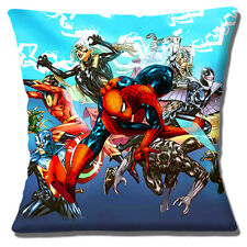 "NEW CAPTAIN MARVEL COMIC BOOK ACTION HEROES SPIDERMAN 16"" Pillow Cushion Cover"