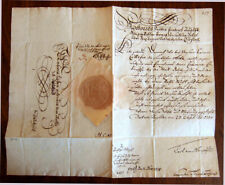 AUGUSTUS III - King Poland / Lithuania 1738 Authentic Manuscript With Royal Seal